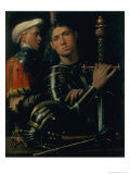 Portrait of a Military Captain with His Squire, circa 1518-22 Giclee Print by Paolo Morando Cavazzola