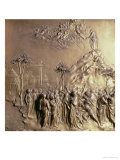 Moses Receiving the Tablets of the Law, One of Ten Relief Panels Giclee Print by Lorenzo Ghiberti