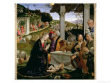 Adoration of the Shepherds, 1485 Giclée-tryk af Domenico Ghirlandaio