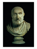 Portrait Bust of Hippocrates, Copy of Greek 4th Century BC Original Giclee Print