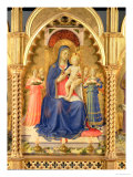 The Perugia Altarpiece, Central Panel Depicting the Madonna and Child Reproduction procédé giclée par Fra Angelico