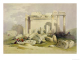 Ruins of the Eastern Portico of the Temple of Baalbec, May 6th 1839 Giclee Print by David Roberts