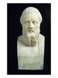 Portrait Bust of Herodotus, Copy of Greek 4th Century BC Original Giclee Print