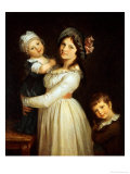 Family Portrait of Madame Anthony and Her Children, 1785 Giclee Print by Pierre-Paul Prud'hon