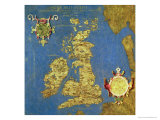 "Map of the Sixteenth Century British Isles, from the ""Sala Delle Carte Geografiche"" Giclee Print by Stefano And Danti Bonsignori"