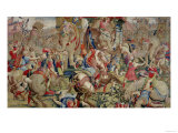 The Battle of Zama, by Giulio Romano Giclee Print