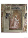 The Annunciation, Detail of the Angel Gabriel, from the Lunette Above the Altar, circa 1305 Giclee Print by  Giotto di Bondone