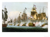 The Battle of Trafalgar, 21st October 1805, for J. Jenkins&#39;s &quot;Naval Achievements&quot; Giclee Print by Thomas Whitcombe