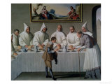 St. Hugh of Cluny in the Refectory of the Carthusians, 1633 Giclee Print by Francisco de Zurbarán