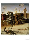 St. George and the Dragon, Predella (Detail) Giclee Print by Giovanni Bellini