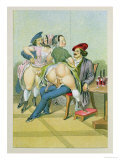 Prostitutes with Two Men, Published 1835, Reprinted in 1908 Giclee Print by Peter Fendi