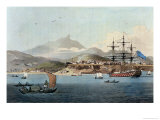 "Porto Praya in the Island of St. Jago, Plate 4 from ""A Voyage to Cochinchina"" Premium Giclee Print by William Alexander"