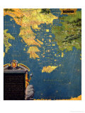 "Map of Sixteenth Century Greece, from the ""Sala Delle Carte Geografiche"" Giclee Print by Stefano And Danti Bonsignori"