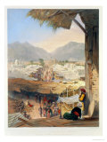 City of Kandahar, Its Principal Bazaar and Citadel, Taken from the Nakarra Khauneh Giclee Print by James Rattray