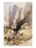 "Entrance to Petra, March 10th 1839, Plate 98 from Volume III of ""The Holy Land"" Giclee Print by David Roberts"
