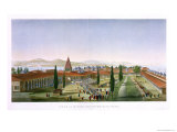 View of the Inner Courtyard of the Seraglio, Topkapi Palace, Constantinople Giclee Print by Anton Ignaz Melling