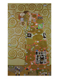 Study for Fulfilment, C.1905-09 (W/C and Gold on Paper) (See 65884) Reproduction procédé giclée par Gustav Klimt