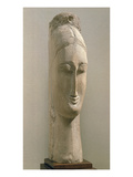 Head of a Woman (Stone) Giclee Print by Amedeo Modigliani