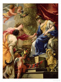 Prudence Leading Peace and Abundance, circa 1645 Giclee Print by Simon Vouet