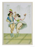 Pas De Deux, Published 1835, Reprinted in 1908 Giclee Print by Peter Fendi