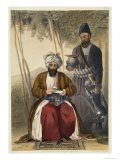 Mahommed Naib Shurreef, a Celebrated Kuzzilbach Chief of Caubul Giclee Print by James Rattray
