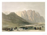 Encampment of The Aulad-Said, Mount Sinai, February 18th 1839 Lámina giclée por David Roberts