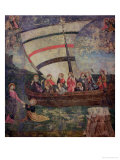 "Christ Walking on the Water, after the ""Navicella"" by Giotto Giclee Print by Antoniazzo Romano"