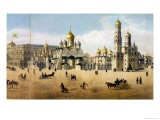 Cathedrals of the Annunciation and the Archangel, from a Panorama of Moscow Giclee Print by Dmitri Indieitzeff