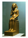 Seated Statue of a Pharaoh, New Kingdom Giclee Print by 18th Dynasty Egyptian