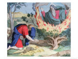 Moses and the Burning Bush, 1860 Giclee Print