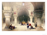 "Crypt of the Holy Sepulchre, Jerusalem, Plate 20 from Volume I of ""The Holy Land"" Giclée-Druck von David Roberts"