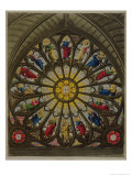 "The North Window, Plate D from ""Westminster Abbey"" Reproduction procédé giclée par William Johnstone White"