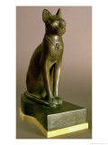 Statuette of a Cat Representing the Goddess Bastet, Bearing the Cartouche of Psamtek I Giclee Print by 26th Dynasty Egyptian