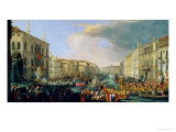 Regatta Held in Honour of Frederick VI of Denmark 1709 Giclee Print by Luca Carlevaris