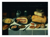 Still Life with a Ham Giclee Print by Floris van Schooten
