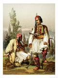 Albanians, Mercenaries in the Ottoman Army, Published by Lemercier, 1857 Giclee Print by Amadeo Preziosi