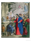 Jesus Gives Sight to One Born Blind, from a Bible Printed by Edward Gover, 1870s Premium Giclee Print by Siegfried Detler Bendixen