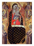 Madonna and Child Enthroned with Six Angels Lámina giclée por Allegretto Nuzi