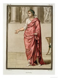"""Titus, Costume for """"Berenice"""" by Jean Racine Giclee Print by Philippe Chery"""
