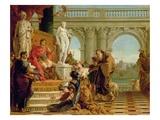 Maecenas Presenting the Liberal Arts to the Emperor Augustus (63BC-14AD) c.1745 Giclee Print by Giovanni Battista Tiepolo