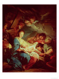The Adoration of the Shepherds Giclee Print by Carle van Loo