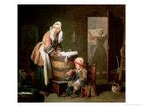 The Laundry Woman Giclee Print by Jean-Baptiste Simeon Chardin