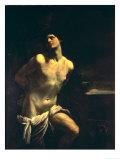 St. Sebastian Giclee-trykk av Guido Reni
