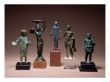 Collection of Etruscan Antiquities Including a Figure of Hercules and a Patera Handle Giclee Print