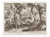 "Columbus Discovering America, Plate 2 from ""Nova Reperta"" Giclee Print by Jan van der Straet"