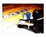 Poker Cat 4 Photographic Print by Teo Alfonso