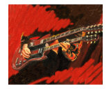 Guitar Doubleneck SG Giclee Print by Rhonda Watson