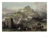 "The Great Wall of China, from ""China in a Series of Views"" by George Newenham Wright 1843 Giclee Print by Thomas Allom"