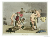 Hot Bath, Plate 73 from Volume III of 'The Manners, Customs and Amusements of The Russians' Lmina gicle por John Augustus Atkinson