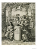 Charles II as Patron of the Royal Society Giclee Print by John Evelyn